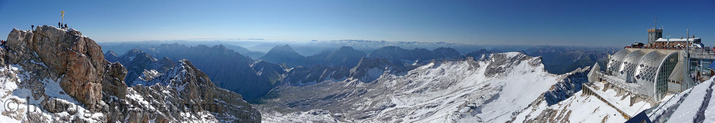 Zugspitze Panorama Wettersteingebirge: Be...